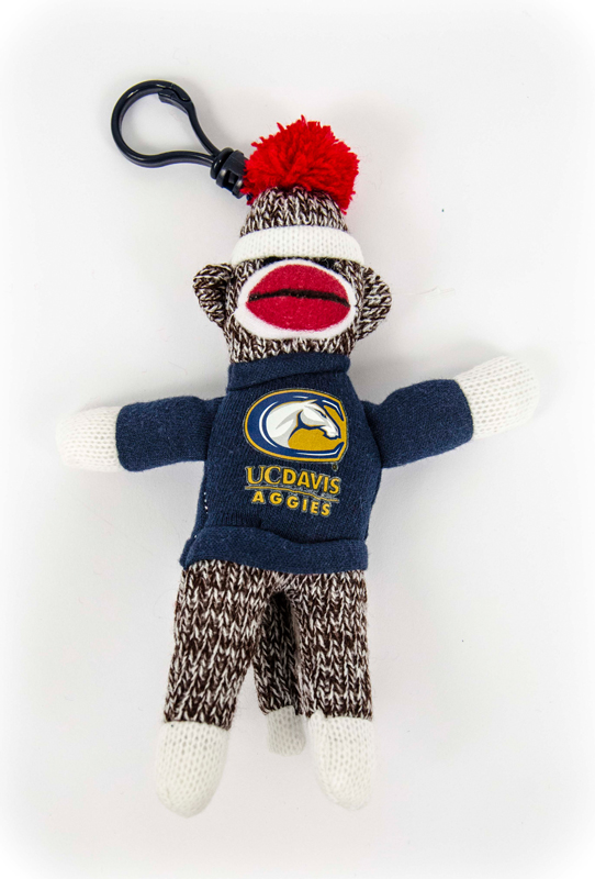 Cover Image For Plush UC Davis Sock Monkey Clip-On