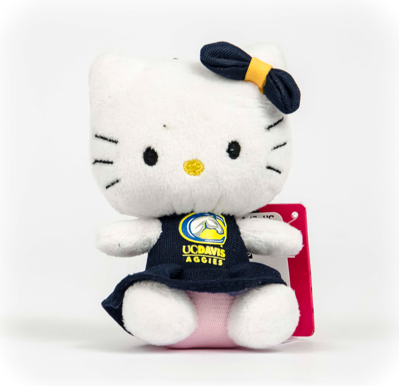 Image For Plush UC Davis Hello Kitty Clip-On