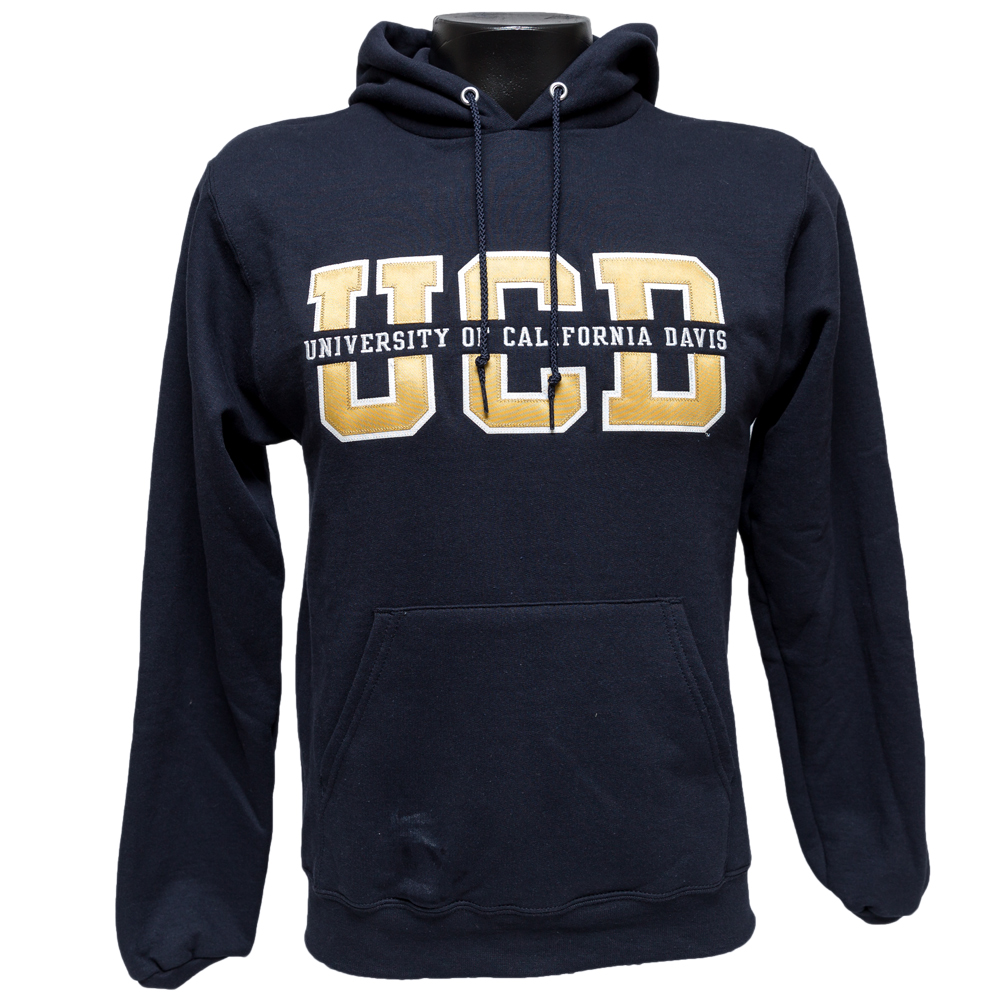 Image For Blue84 UC Davis Hood Splitfont Navy