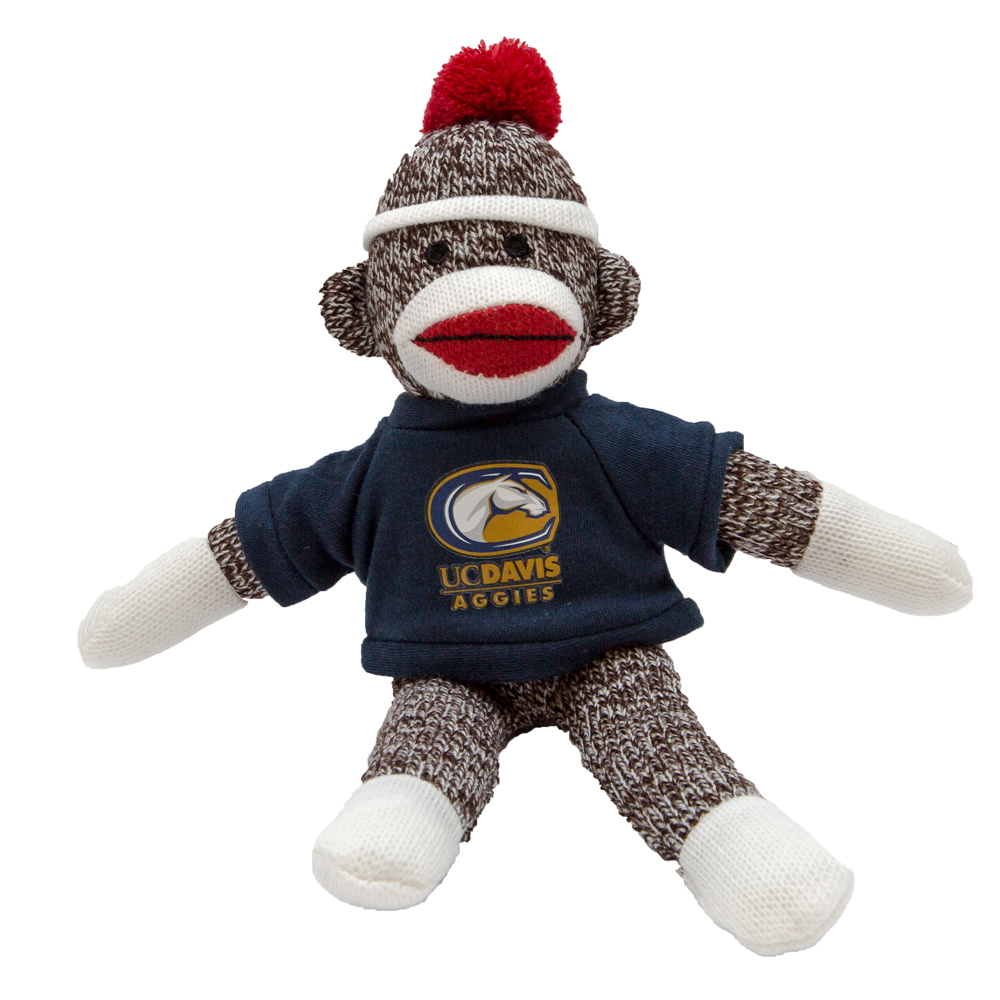 "Cover Image For UC Davis Sock Monkey (8"")"