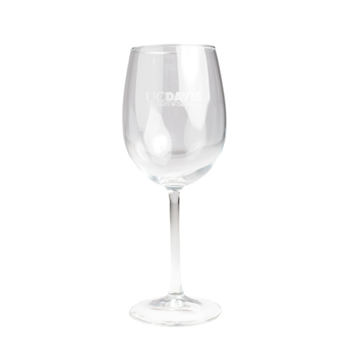 Cover Image For Wine Glass Engraved UC Davis