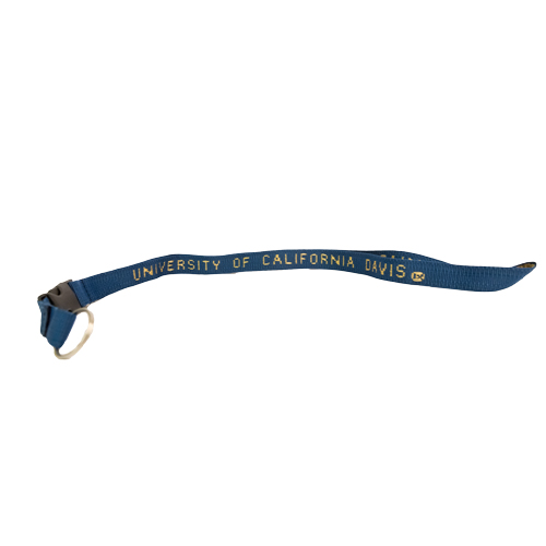 Image For Lanyard Navy and Gold Woven UC Davis