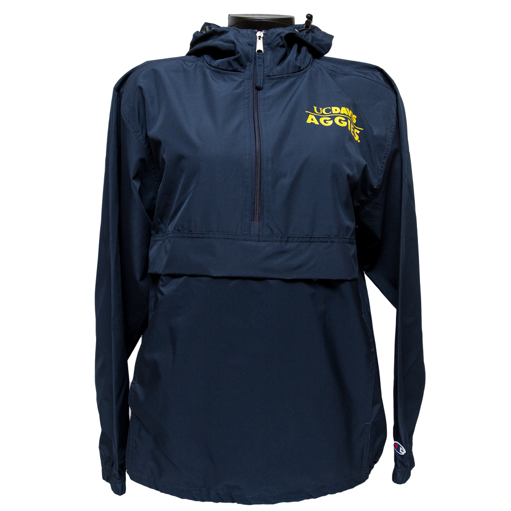Image For Champion® Pack and Go UC Davis Aggies Jacket Navy