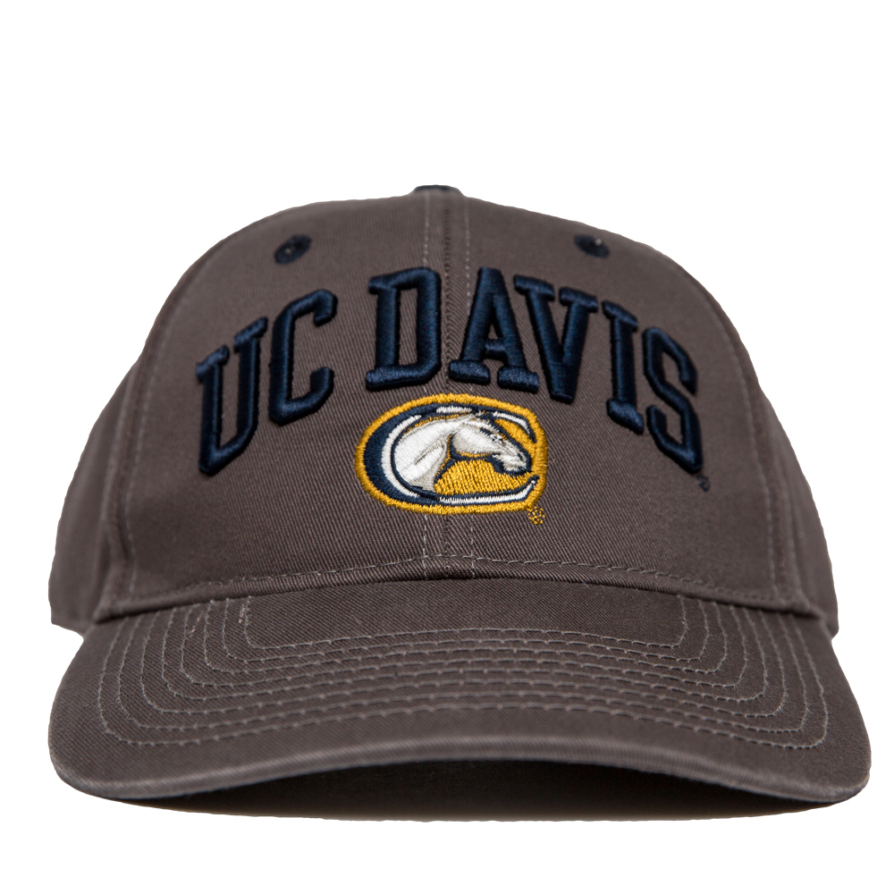 Image For UC Davis Hat Charcoal Mascot