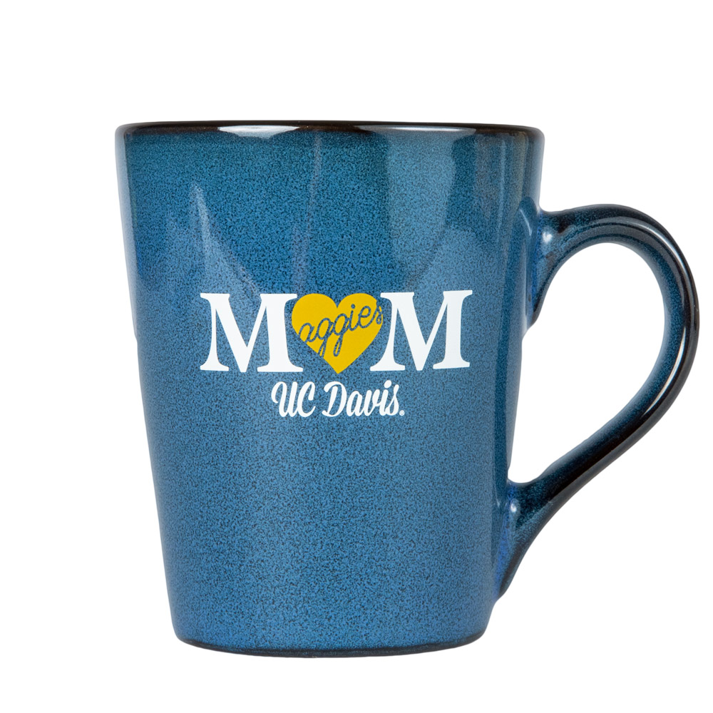 Cover Image For Mug Blue Mom Aggies Heart UC Davis