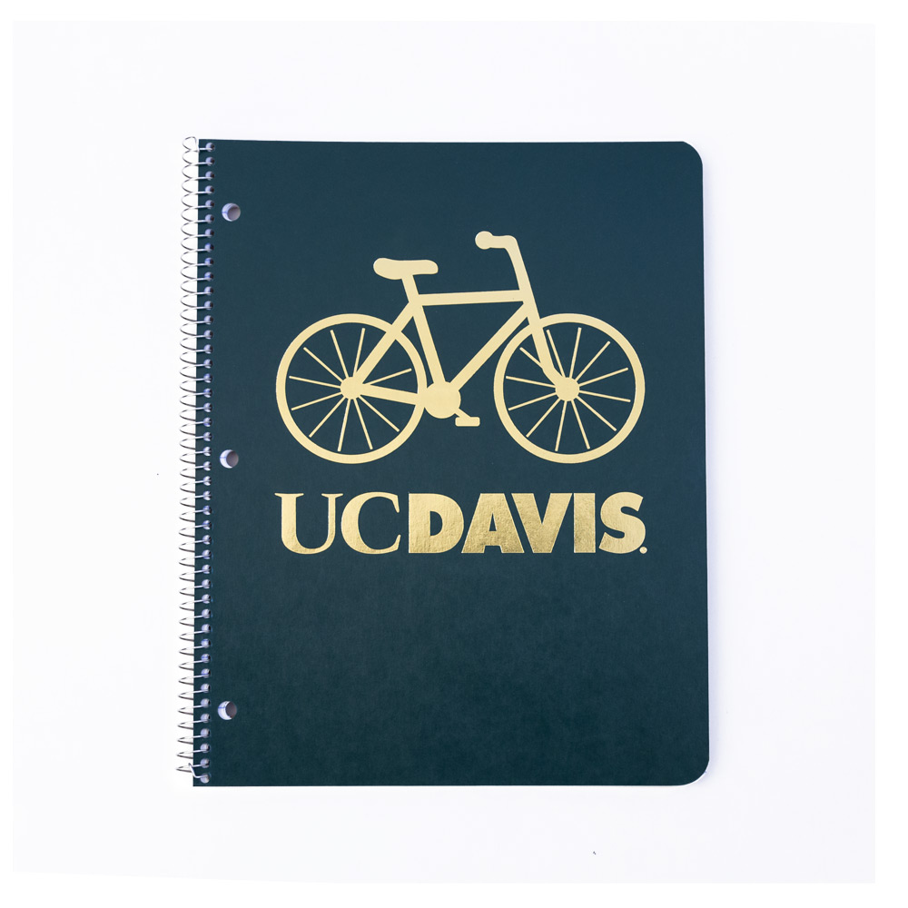 Image For Notebook Spiral 1 Subject UC Davis Bike Assorted