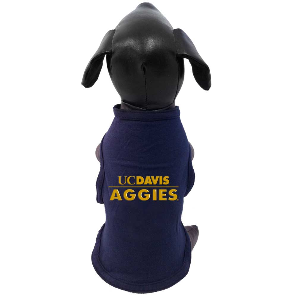 Cover Image For Dog T-Shirt UC Davis Navy