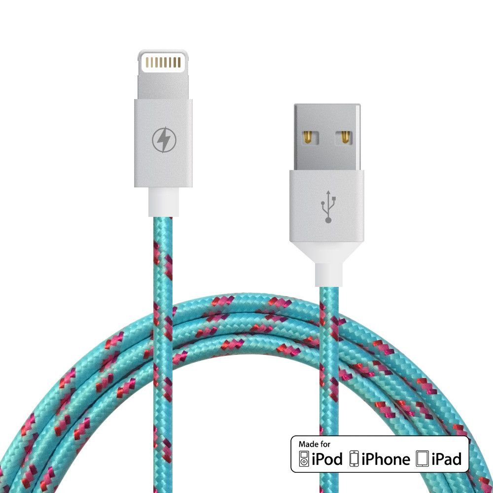 Image For ChargeCords Lightning Cable Cotton Candy