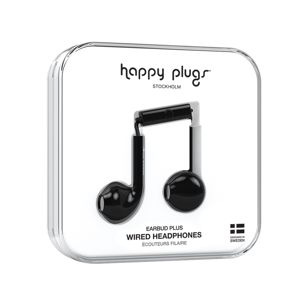 Image For Happy Plugs Earbuds Plus Black