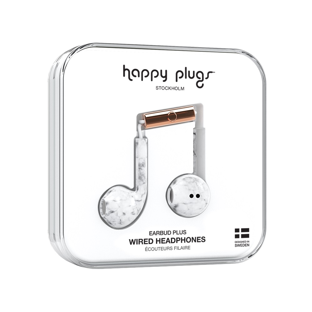 Image For Happy Plugs Earbuds Plus Marble