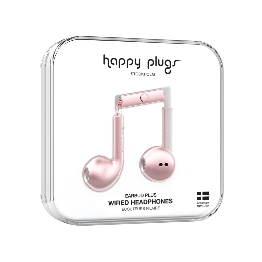 Image For Happy Plugs Earbuds Plus Pink Gold