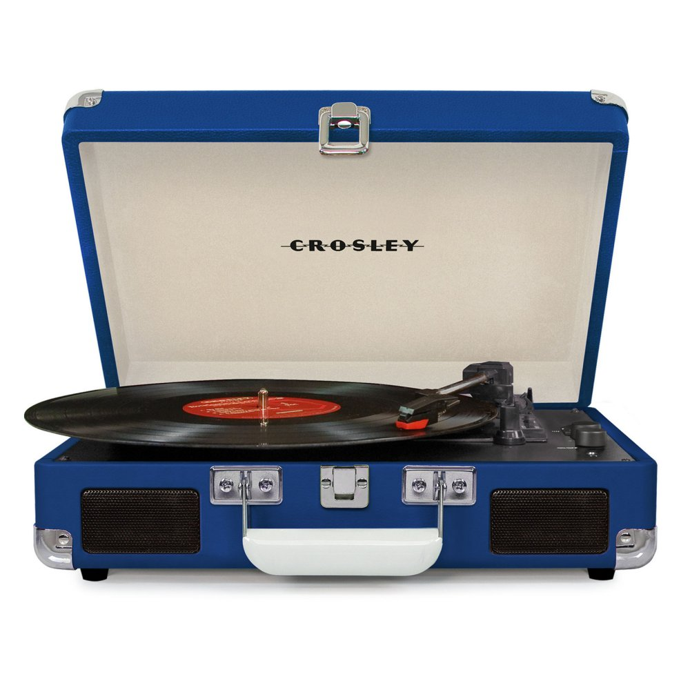 Cover Image For Crosley Cruiser Deluxe Turntable Blue