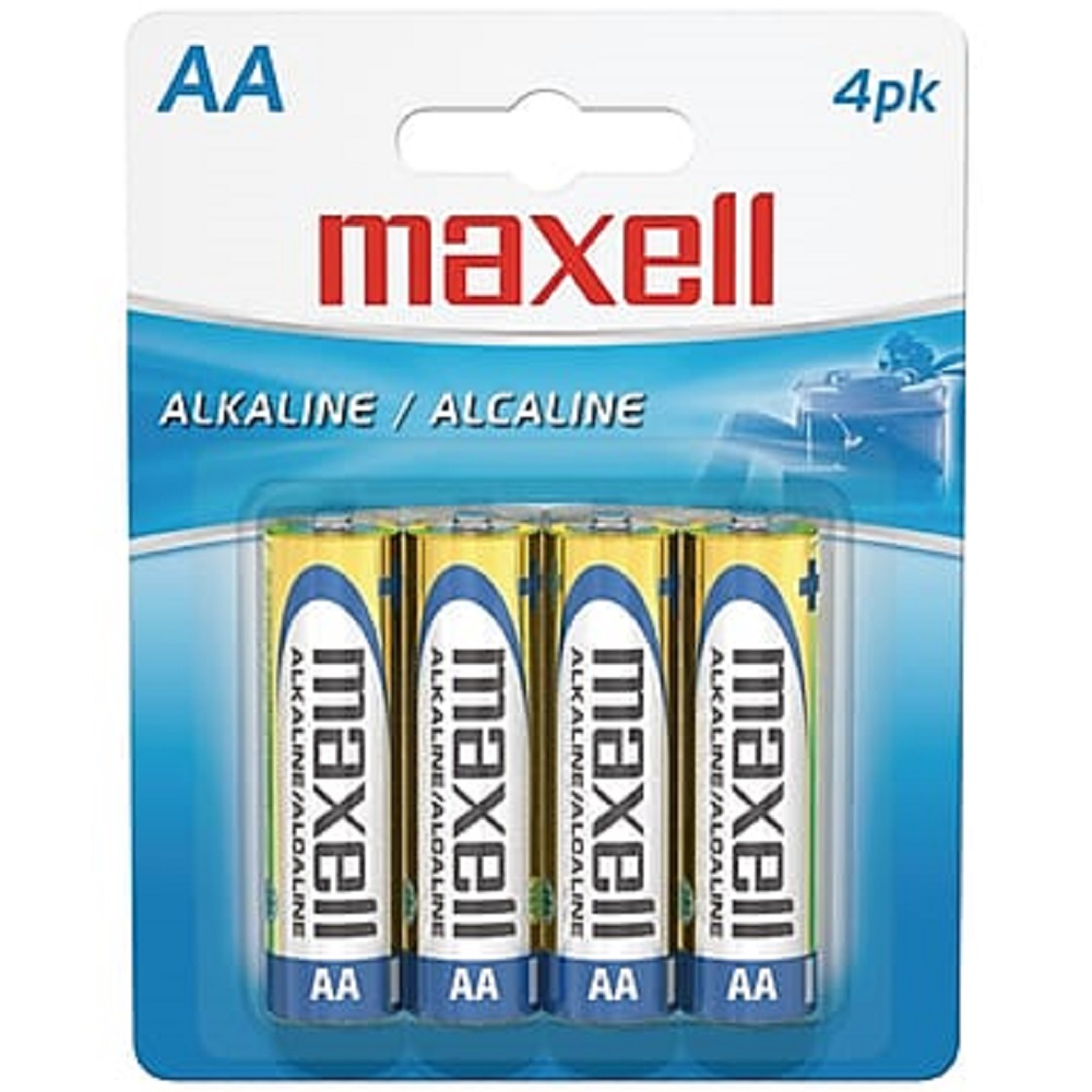 Image For Maxell 4PK AA Batteries