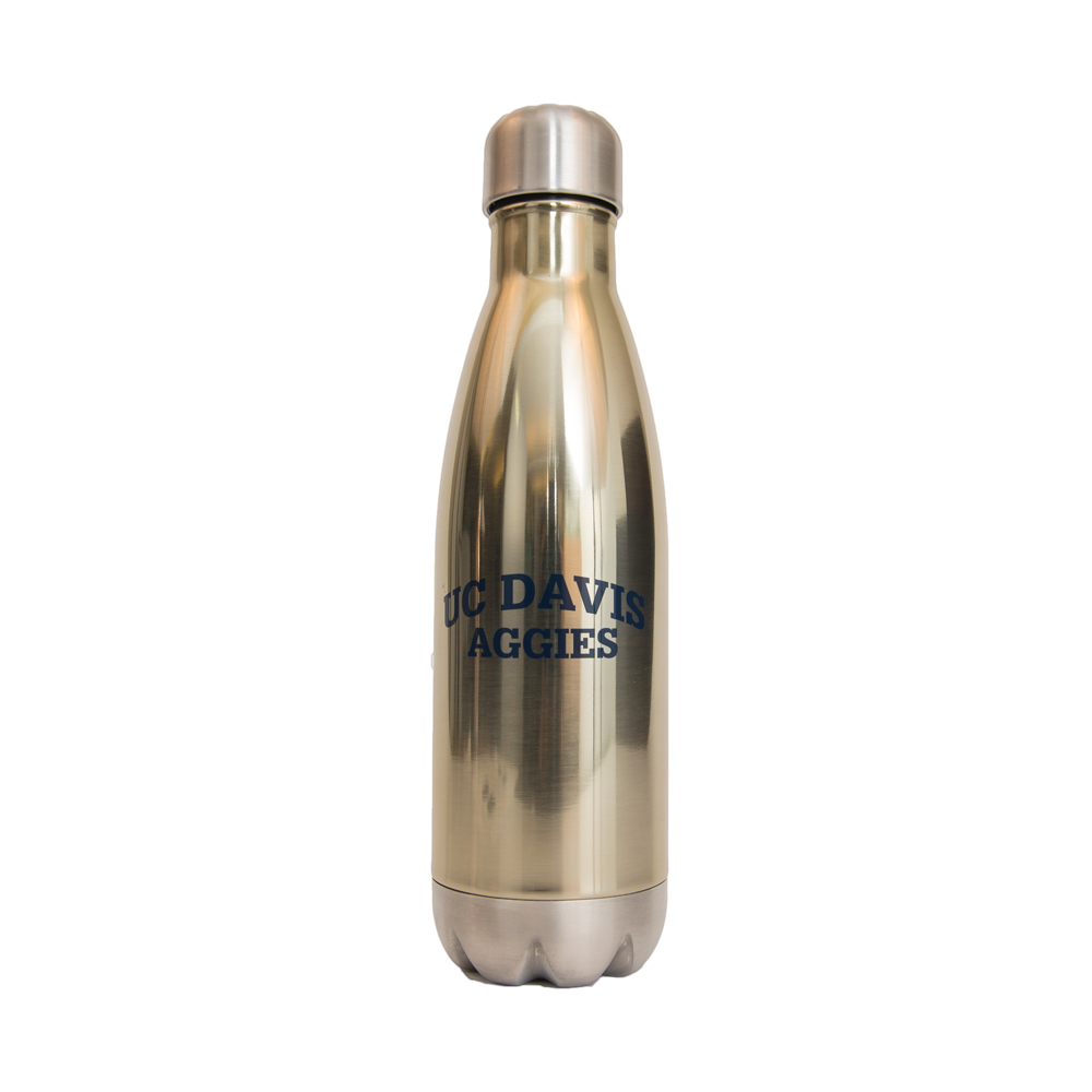 Image For Water Bottle Aluminum Gold Force UC Davis Aggies