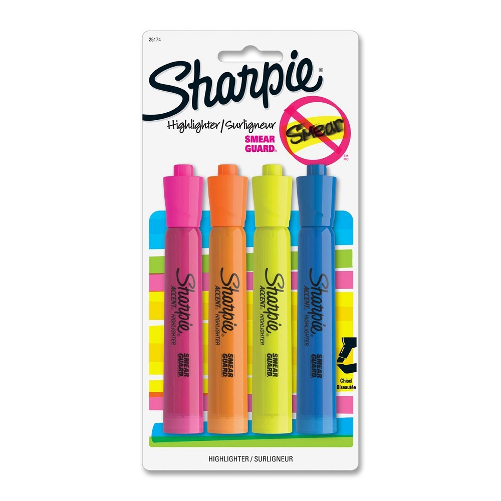 Image For Sharpie® Fluorescent Color 4pk. Tank Highlighters