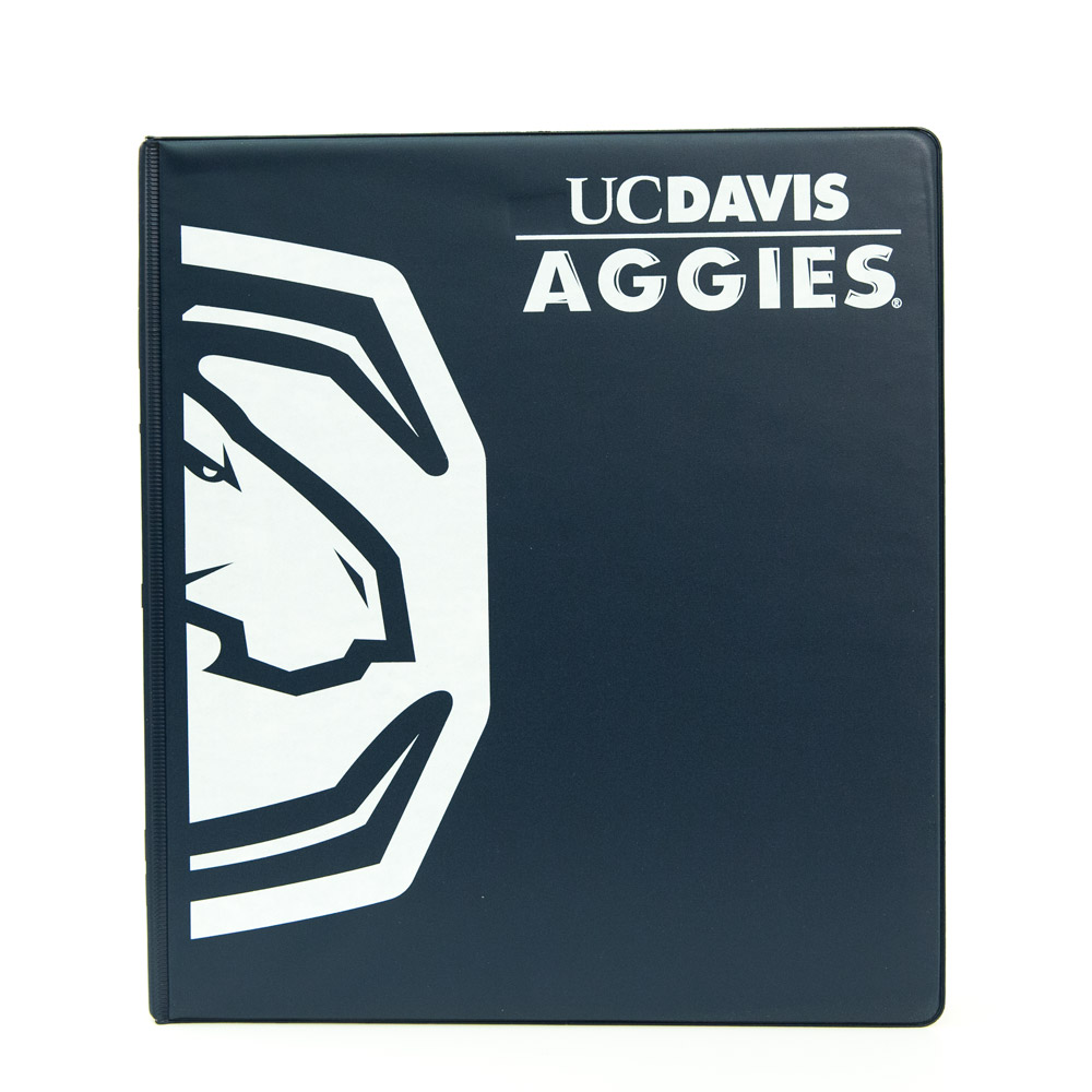 Image For Binder 1 inch Navy UC Davis Aggies C-Horse