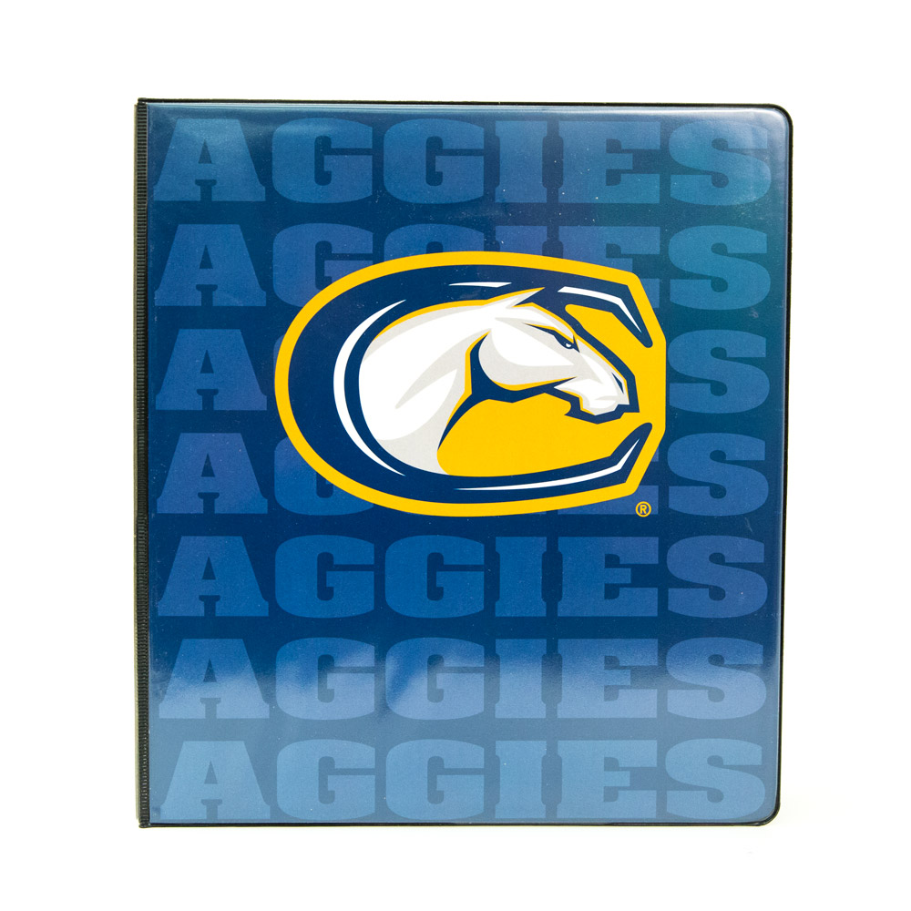 Image For Binder 1 inch Navy Aggies C-Horse