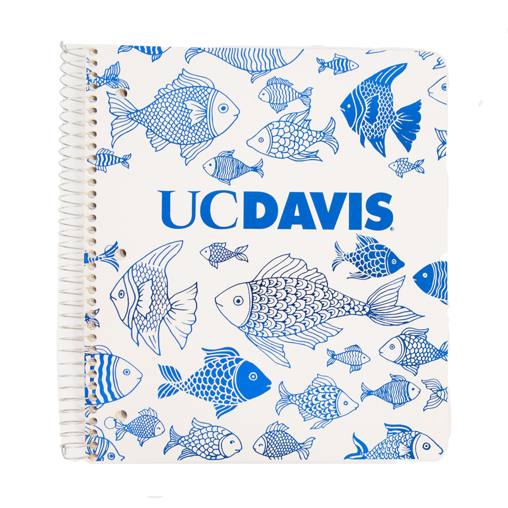 Image For Ampad® 4 Subject UC Davis Notebook Fishes