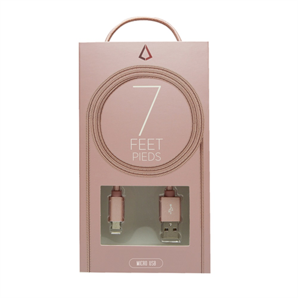 Image For Libratel Micro USB Braided Cable 7' Rose Gold