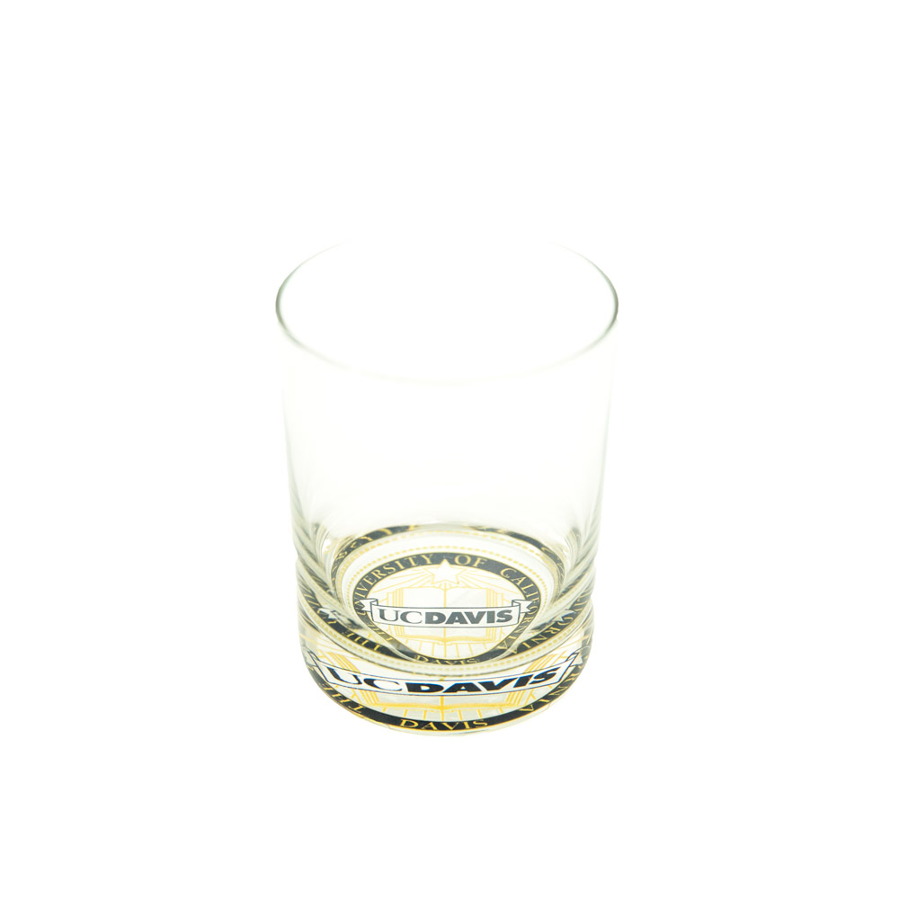 Image For UC Davis Old Fashioned Glass with Faux Seal