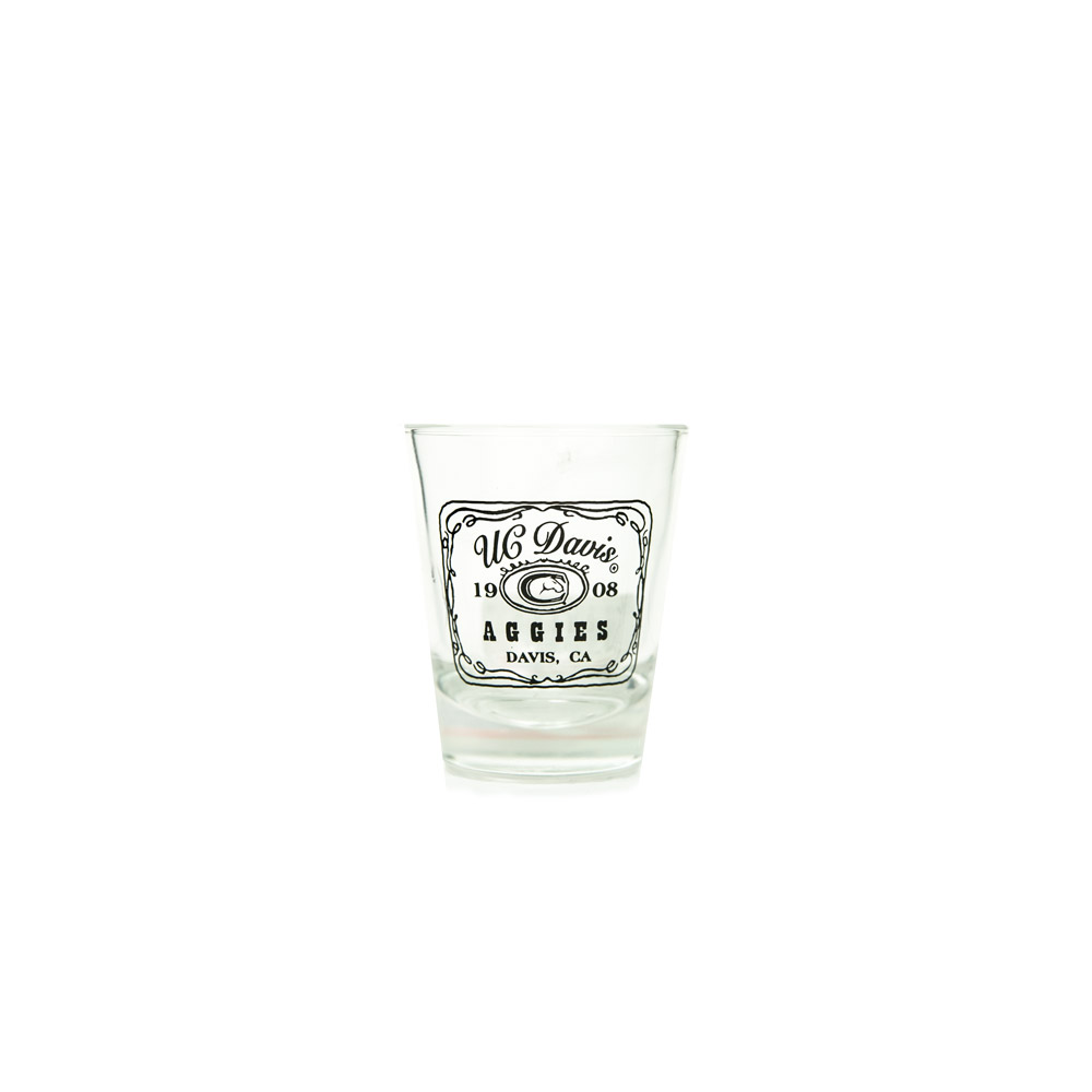 Cover Image For Shot Glass UC Davis est. 1908