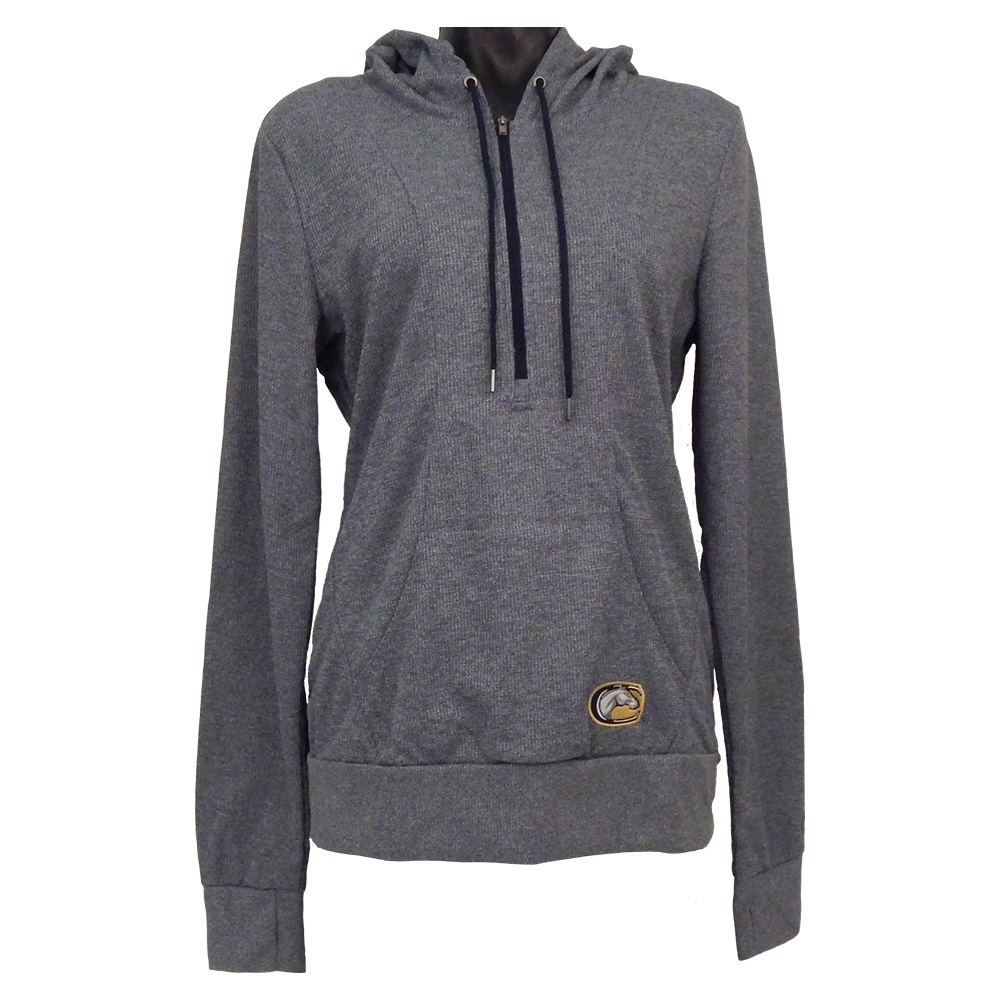 Cover Image For Colosseum Women's 1/2 Zippered Hooded Sweatshirt Navy