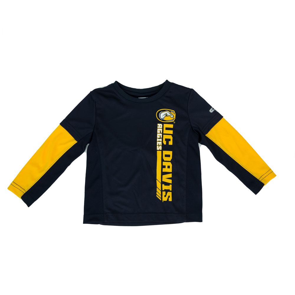 Cover Image For Colosseum UC Davis Toddler Longsleeve Tee and Pants Set Navy
