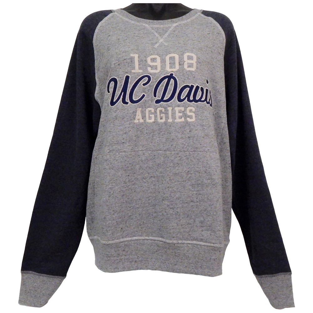Image For Campus Crew UC Davis Aggies Embroidered Crewneck Navy