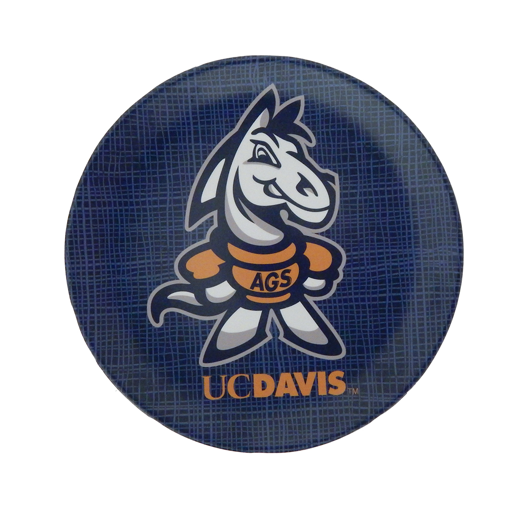 Image For Melamine UC Davis Youth Gunrock 8-Inch Plate