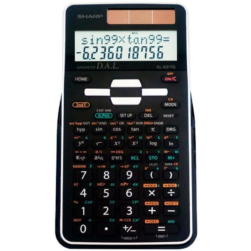 Image For Calculator Sharp EL-53TGBBW Scientific