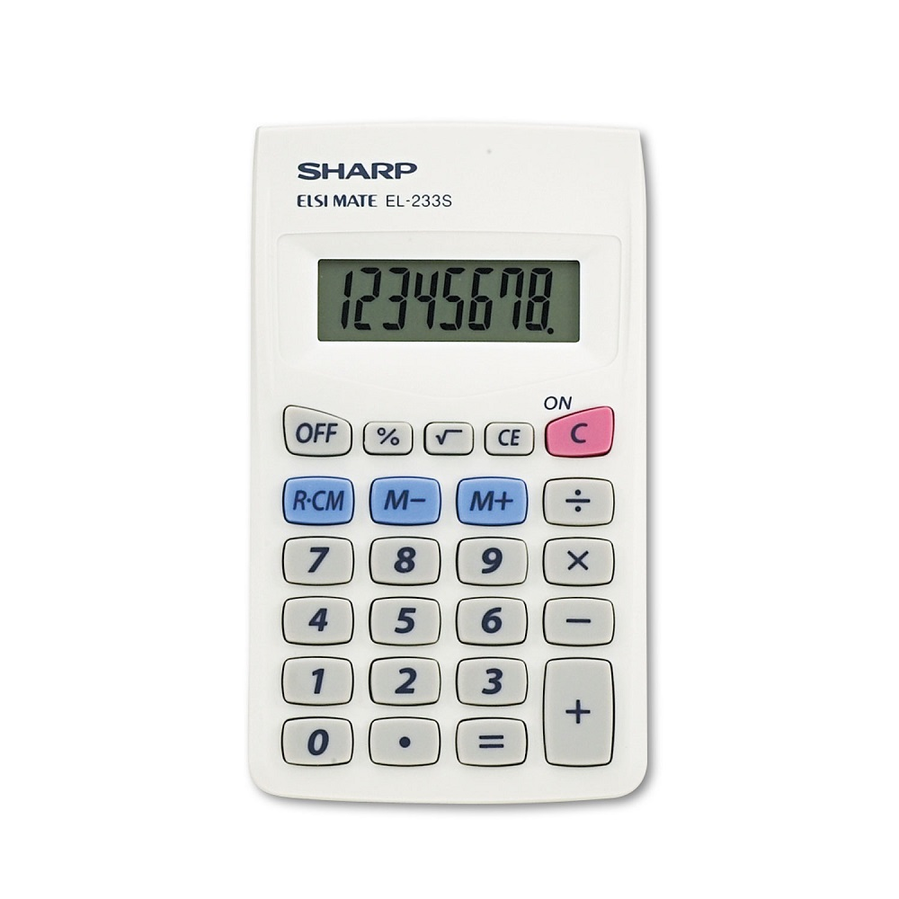 Cover Image For Calculator Sharp EL-233SC Mini