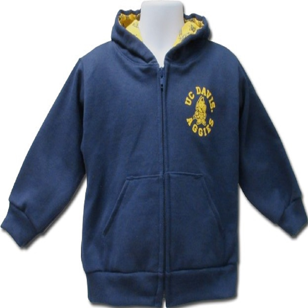 Cover Image For ThirdStreet® UC Davis Infant Zippered Hooded Sweatshirt
