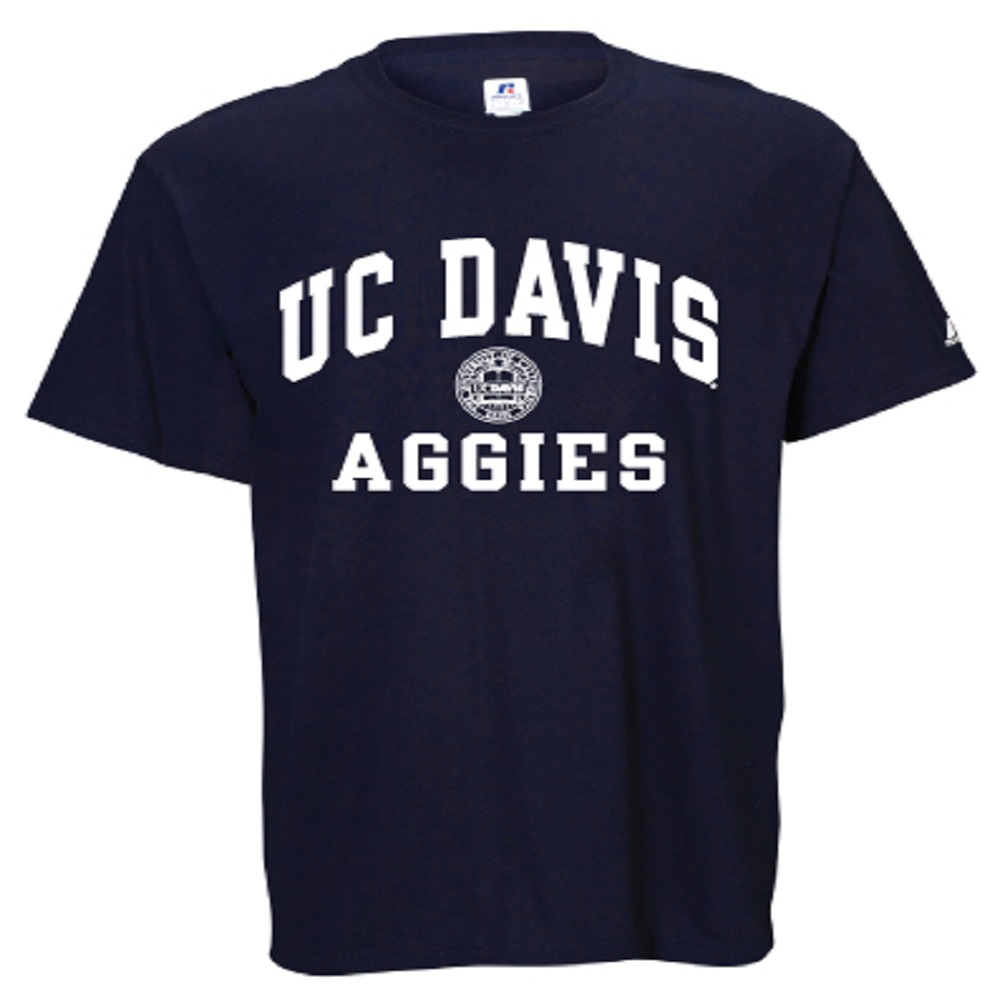 Image For Russell Athletic® UC Davis Aggies Faux Seal Navy