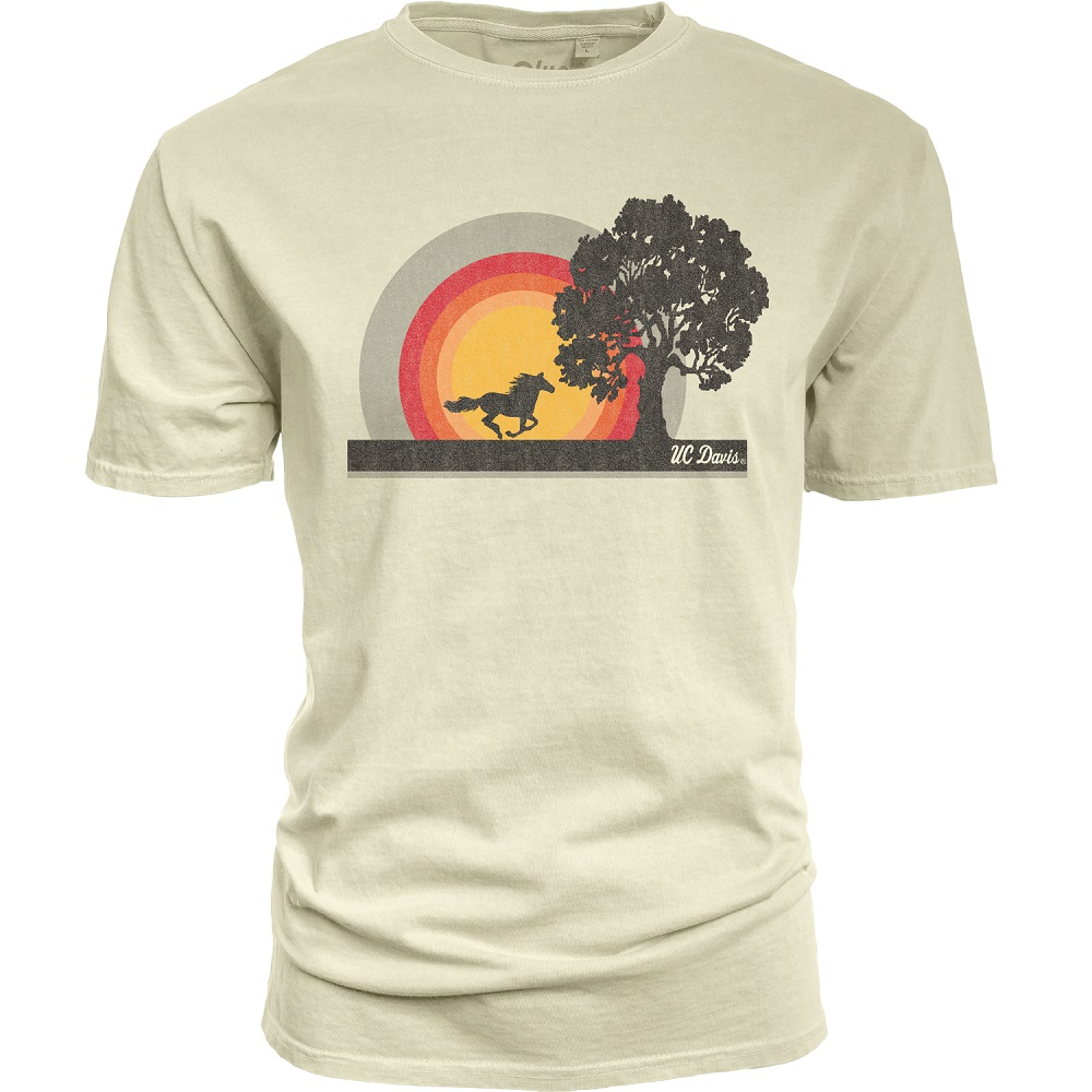 3712a84050d9ca Blue 84 UC Davis Horse   Tree T-Shirt White