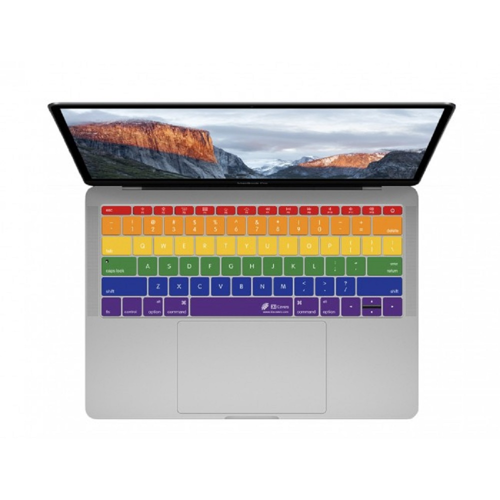 "Image For KB Covers Rainbow MBP 13"" (No Touchbar) or MB 12"""