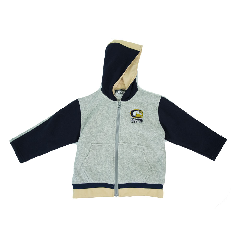 Cover Image For Know-Wear® UC Davis C-Horse Toddler Hooded Jacket