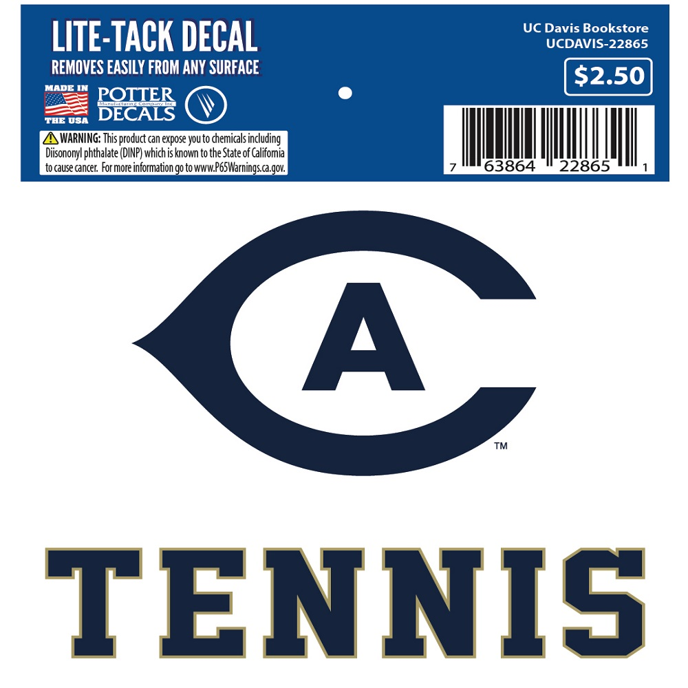 Image For UC Davis Tennis Decal