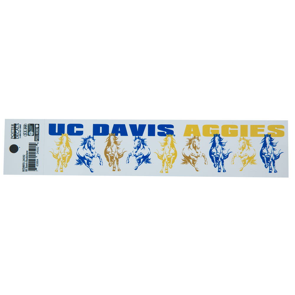 Cover Image For UC Davis Running Horses Long Decal