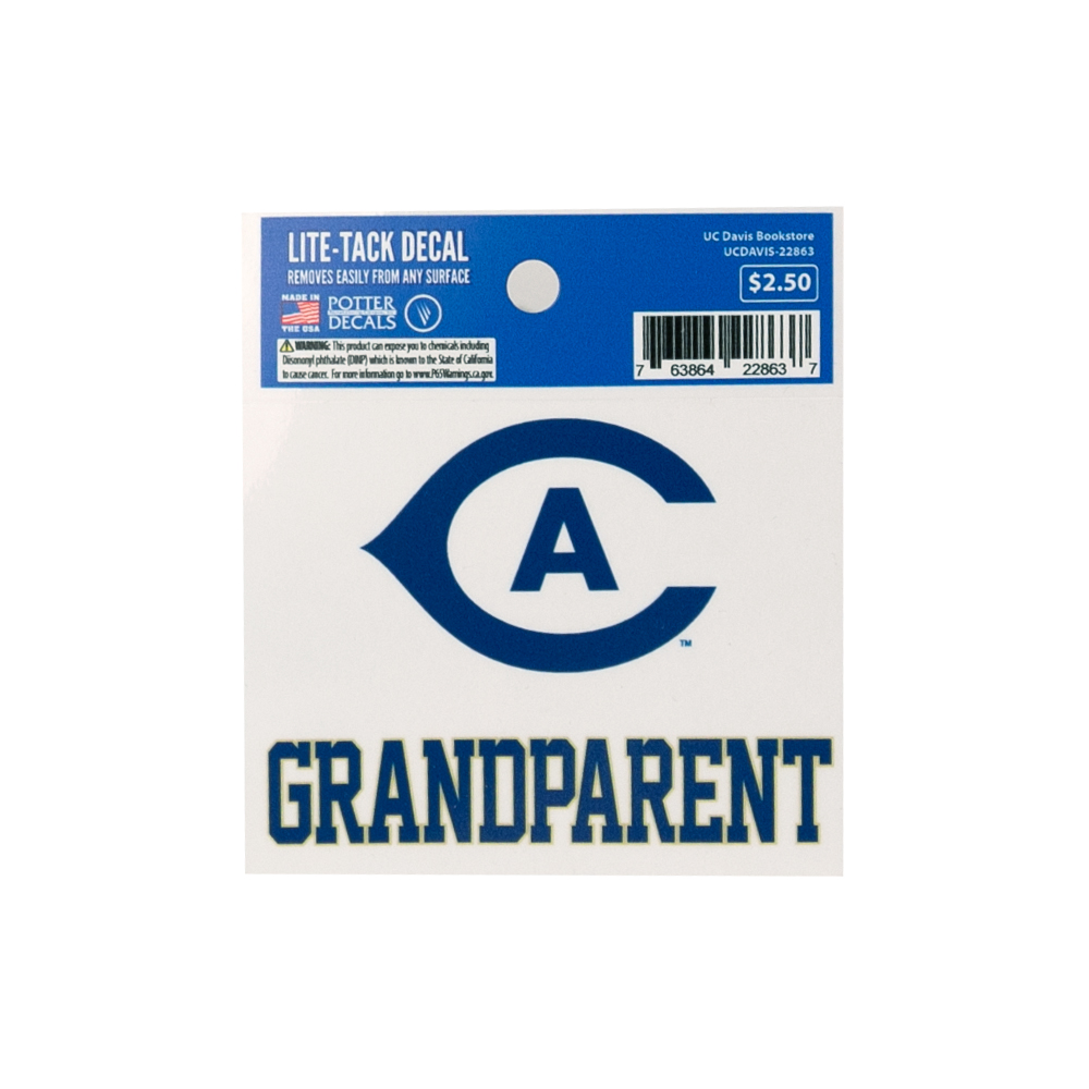 Image For UC Davis Grandparent 3x4 Decal