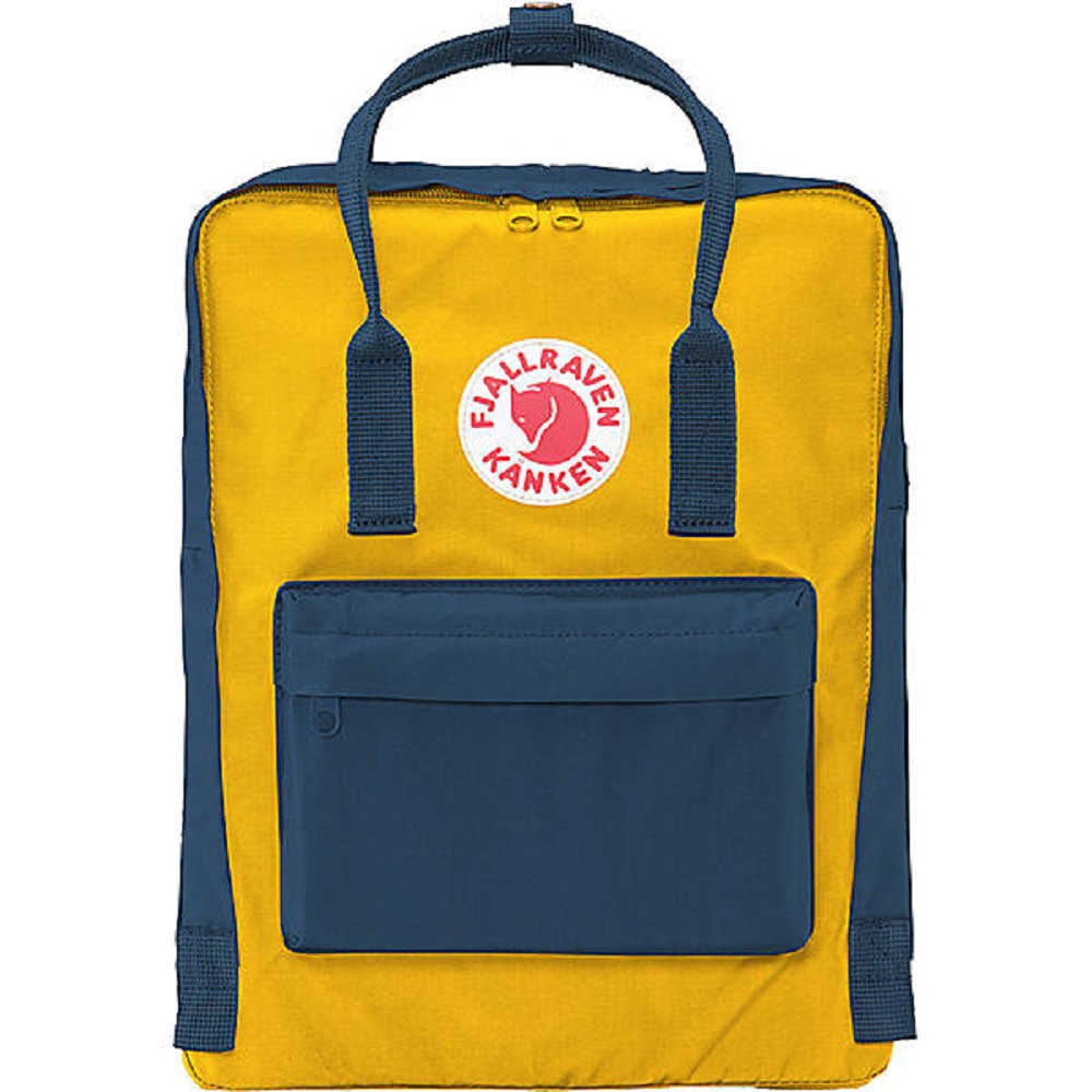 Cover Image For Fjallraven Kanken Backpack Navy/Warm Yellow