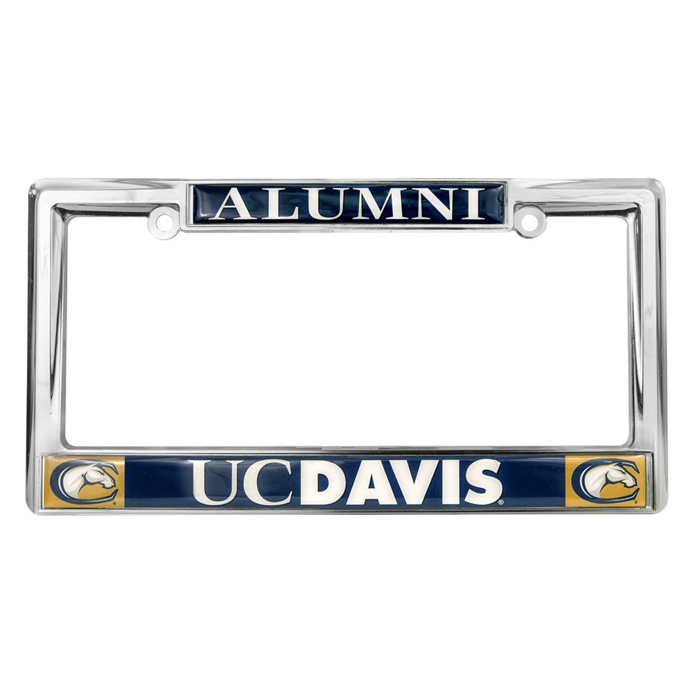 Cover Image For UC Davis Alumni Chrome License Plate Frame