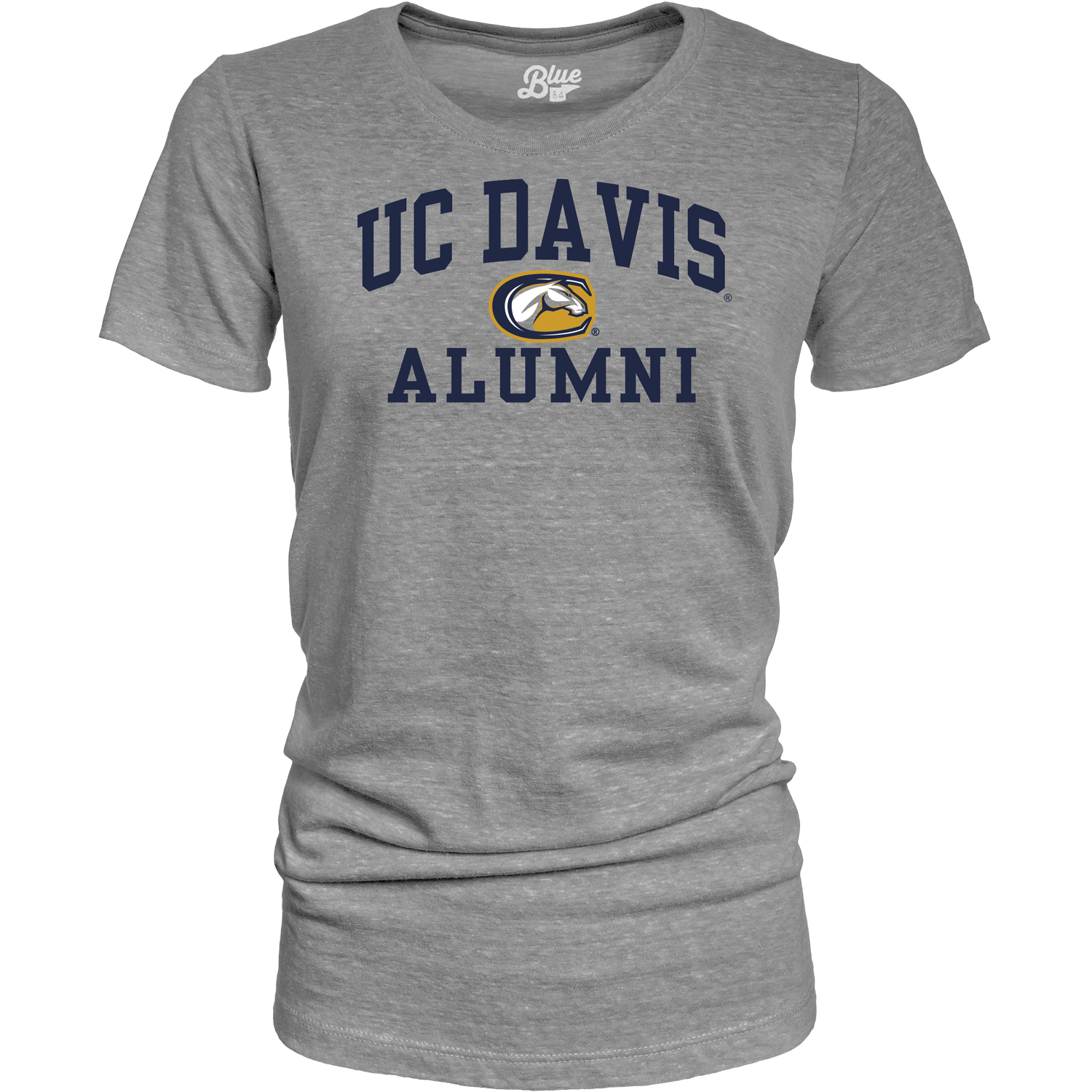 Cover Image For Blue 84 UC Davis Alumni Women's T-Shirt Heather