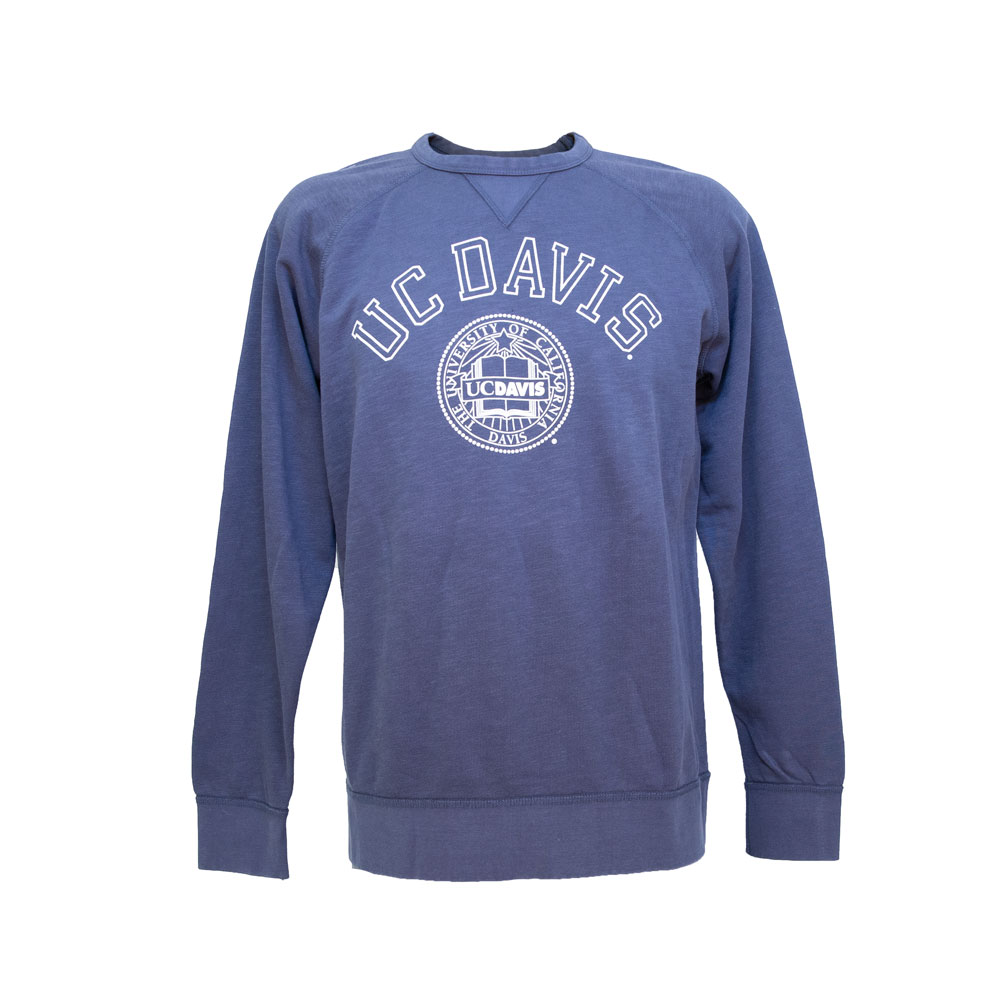 Image For League91 UC Davis Over Seal Vintage Look Crewneck Sweatshirt