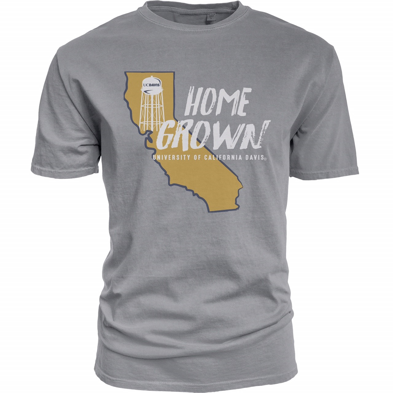 Cover Image For Blue 84 UC Davis Home Grown T-Shirt Gray