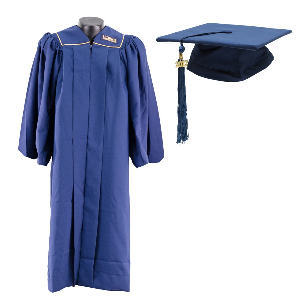 UC Davis Bachelor Cap and Gown Set