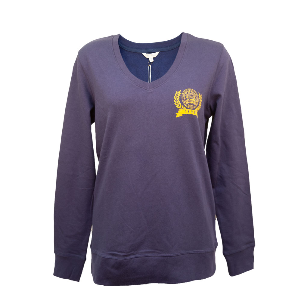 Image For Stepforward UC Davis Seal Women's V-Neck Pullover Sweatshirt