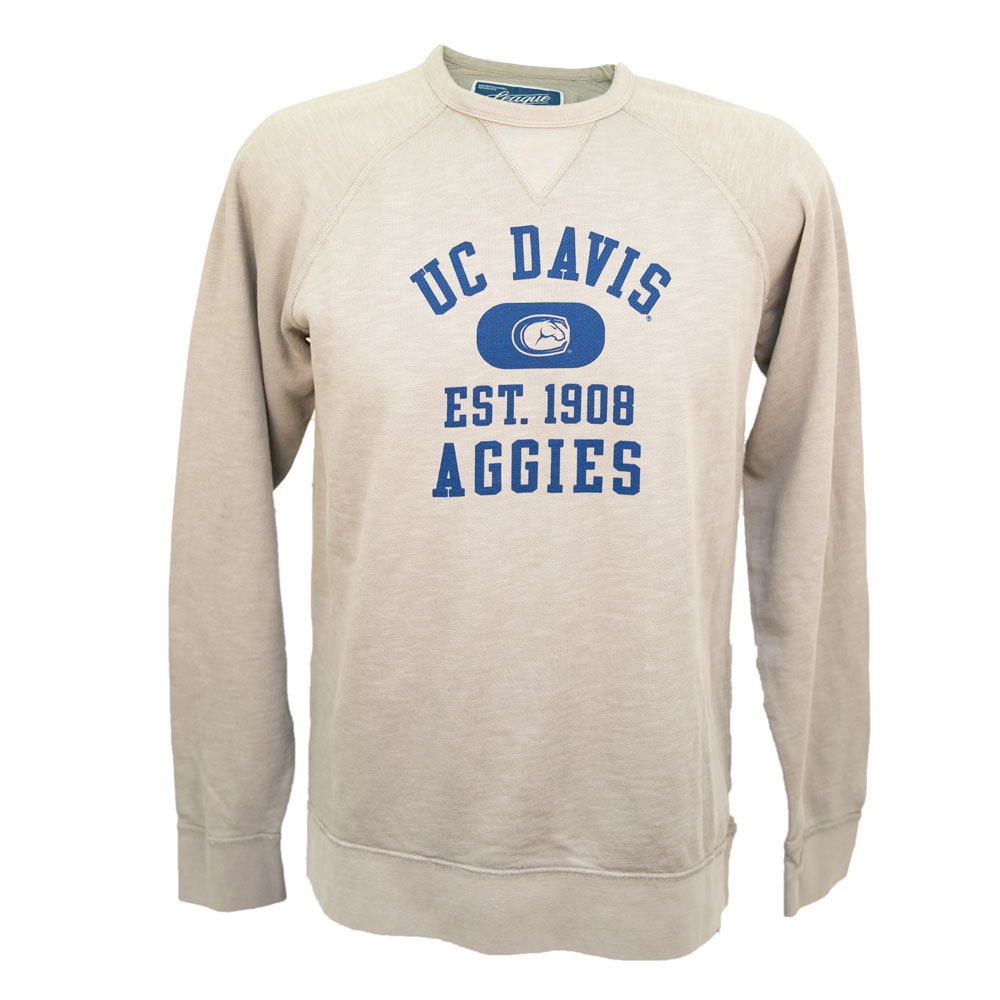 Image For League91 UC Davis Aggies Weathered Vineyard Sweatshirt Gray