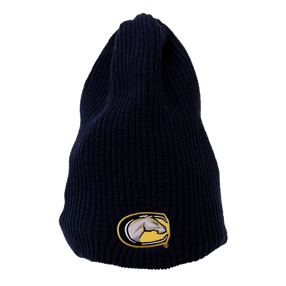 a5a334b5432 Image For Logofit™ UC Davis Mascot Slouchy Ribbed Beanie Navy