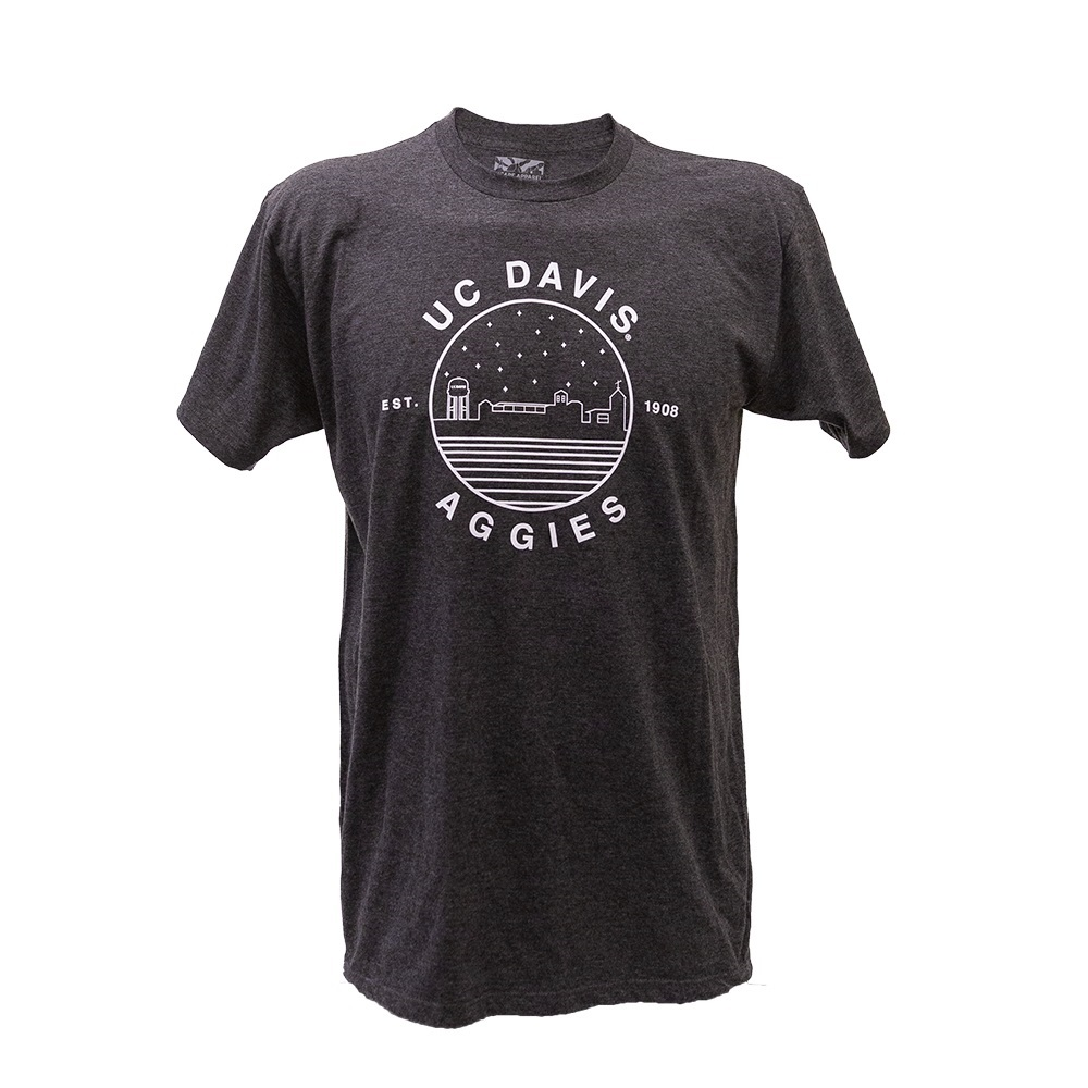 Uscape Apparel UC Davis Skyline in Circle Charcoal