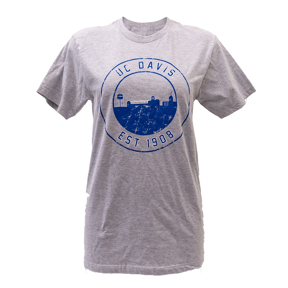 Image For Uscape Apparel® UC Davis Skyline in Circle Gray